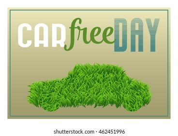 Car Free Day Holiday Poster