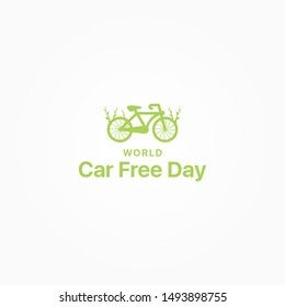 Car Free Day Vector Design Template