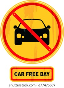 car free day vector illustration