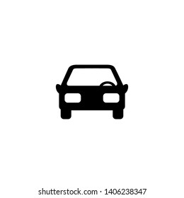 Car front simple icon. Vector illustration