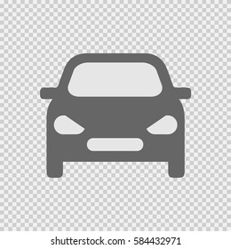 Car front vector icon eps 10 on transparent background.