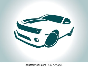 car front view. Chevrolet Camaro.