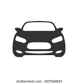 Car front view icon on transparent background