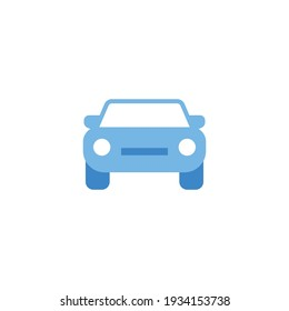 Car front view icon. Simple flat style sign symbol. Auto, view, sport, race, transport concept. Vector illustration isolated on white background. EPS 10.