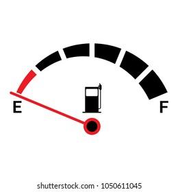 Car fuel gauge icon, vector illustration