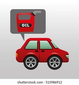 car gallon oil red icon vector illustration eps 10