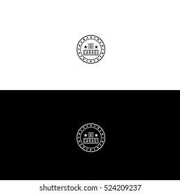 Car Garage logo design hipster vintage inverse variant