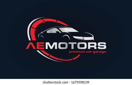 Car Garage Premium Concept Logo Design