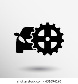 car gear logo icon Vector engineering mechanical.
