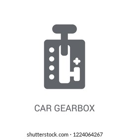 car gearbox icon. Trendy car gearbox logo concept on white background from car parts collection. Suitable for use on web apps, mobile apps and print media.