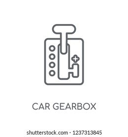 car gearbox linear icon. Modern outline car gearbox logo concept on white background from car parts collection. Suitable for use on web apps, mobile apps and print media.