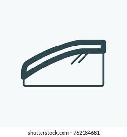Car glass deflector vector icon