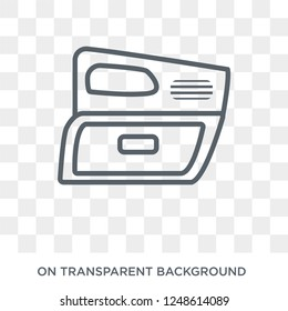 car glove compartment icon. car glove compartment design concept from Car parts collection. Simple element vector illustration on transparent background.
