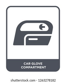 car glove compartment icon vector on white background, car glove compartment trendy filled icons from Car parts collection, car glove compartment simple element illustration