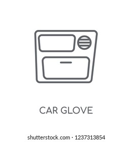 car glove compartment linear icon. Modern outline car glove compartment logo concept on white background from car parts collection. Suitable for use on web apps, mobile apps and print media.