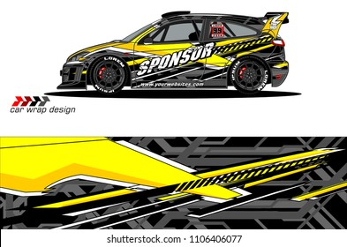 car graphic background vector. abstract racing livery design for vehicle vinyl wrap