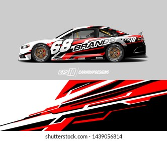 car graphic design concept. Abstract racing background for wrapping vehicles, race cars, cargo van, pickup trucks and racing livery.