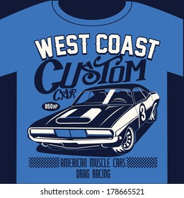 car graphic design for t-shirt