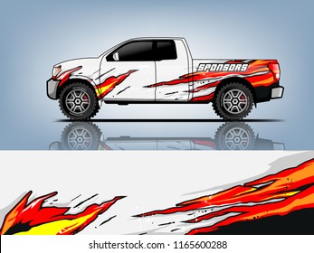 Car graphic vector. abstract racing shape with modern design for vehicle vinyl wrap