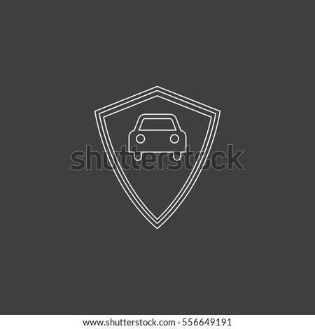 Car Guard Outline Vector Icon Contour Stock Vector Royalty Free