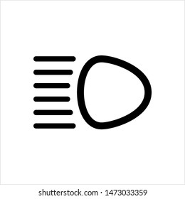 Car Headlight Icon, Car Head Light Icon Vector Art Illustration