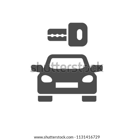 Car Hire Icon Stock Vector Royalty Free 1131416729 Shutterstock