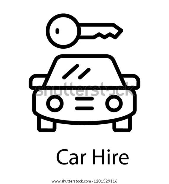 Car Hire Car Rental Icon Stock Vector Royalty Free 1201529116