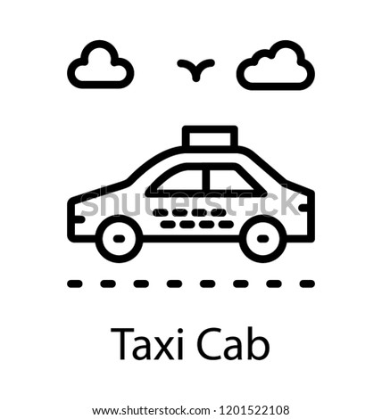 Car Hire Taxi Icon Stock Vector Royalty Free 1201522108 Shutterstock