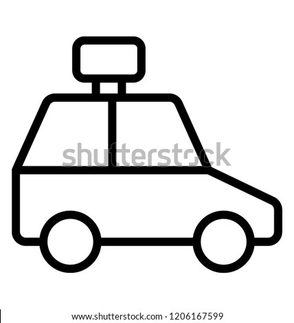 Car Hire Taxi Icon Stock Vector Royalty Free 1206167599 Shutterstock