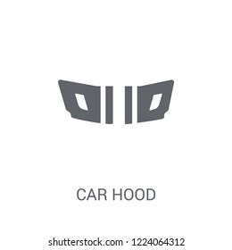 car hood icon. Trendy car hood logo concept on white background from car parts collection. Suitable for use on web apps, mobile apps and print media.