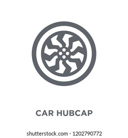 car hubcap icon. car hubcap design concept from Car parts collection. Simple element vector illustration on white background.