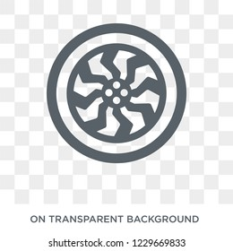 car hubcap icon. car hubcap design concept from Car parts collection. Simple element vector illustration on transparent background.