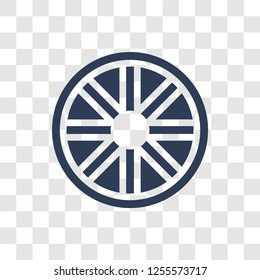 car hubcap icon. Trendy car hubcap logo concept on transparent background from car parts collection