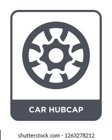 car hubcap icon vector on white background, car hubcap trendy filled icons from Car parts collection, car hubcap simple element illustration