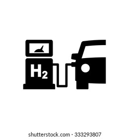 Car Hydrogen Station Vector Icon