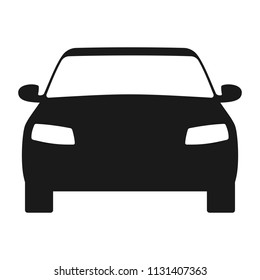 Car icon. Automobile symbol front view. Flat style