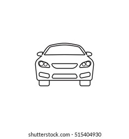 car icon, automobile symbol vector graphics, a linear pattern on a white background, eps 10.