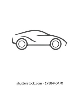 car icon black vector illustration