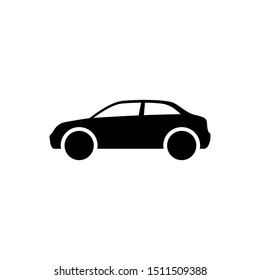 Car icon. Car body sign simple flat style illustration