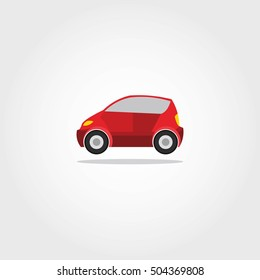 Car Icon with color Vector illustration.