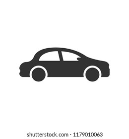 Car icon in flat style. Automobile car vector illustration on white isolated background. Auto business concept.