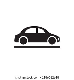 Car  icon,  isolated. Flat  design.