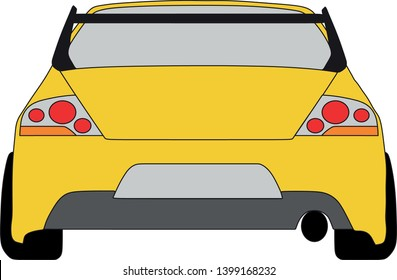 Car icon isolated on white background. steering whell symbol in flat style. Car Vector illustration for web and mobile design.