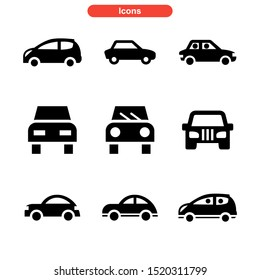 car icon isolated sign symbol vector illustration - Collection of high quality black style vector icons