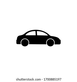 Car icon logo design black symbol isolated on white background. Vector EPS 10