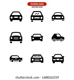 car icon or logo isolated sign symbol vector illustration - Collection of high quality black style vector icons