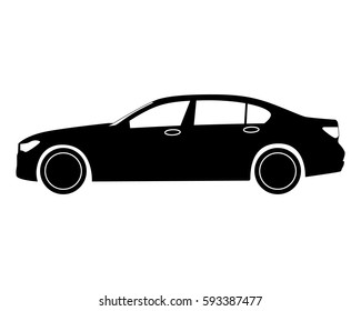 Car Icon Small Sedan Stock Vector Royalty Free 521952205