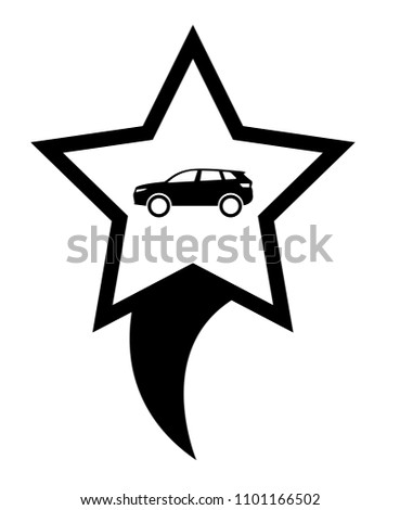 Car Icon Map Pointer Designed Car Stock Vector Royalty Free