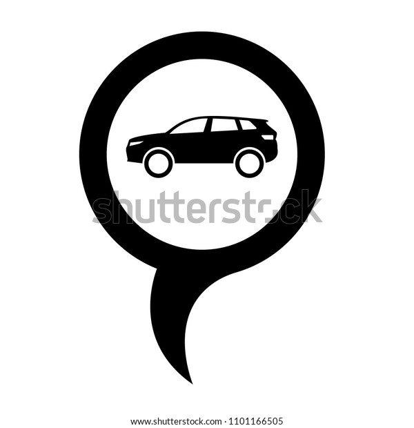 Car Icon Map Pointer Designed Car Stock Vector Royalty Free 1101166505