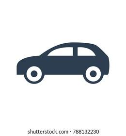 Car icon on white background. Vector illustration